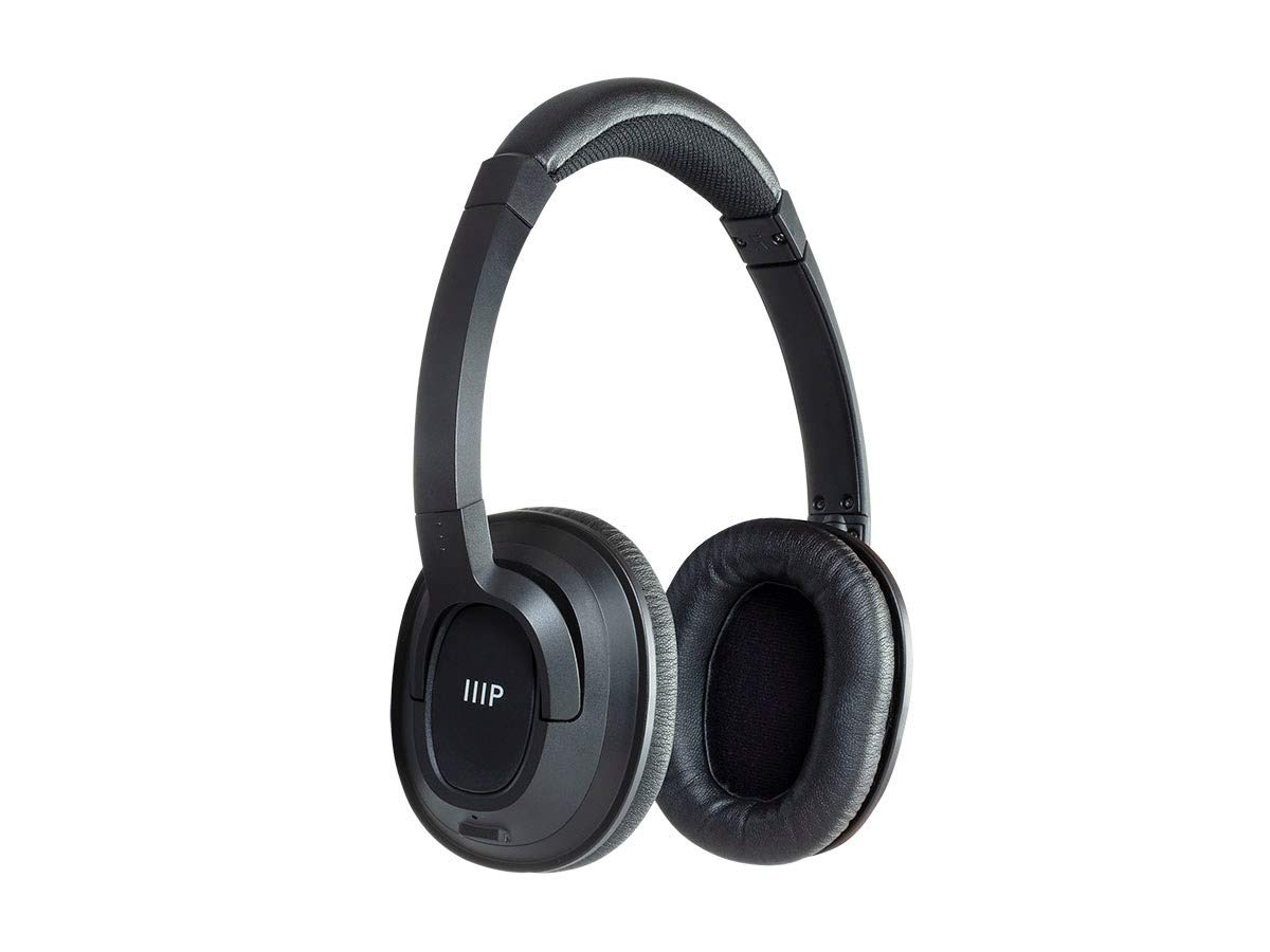 82aadc029a5 Amazon.com: Monoprice On Ear Bluetooth Headphones - Black | BT-210, Wireless,  Lightweight Up to 8 Hours of Play Time: Electronics