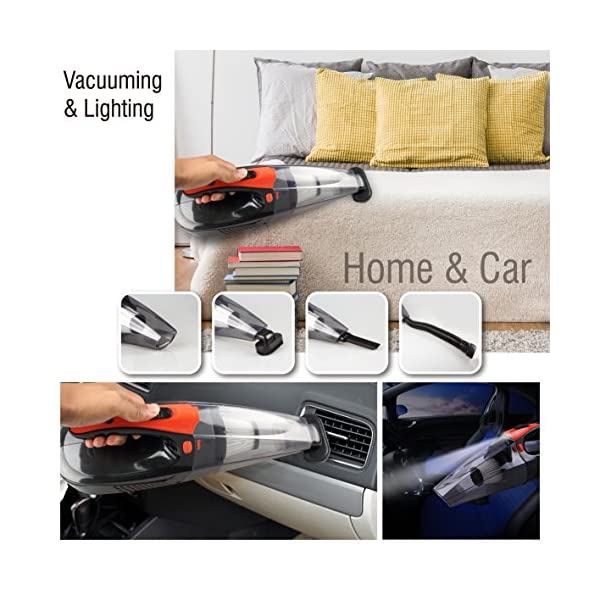 Cordless Handheld Vacuum Cleaner Rechargeable Car Vacuum 4Kpa Strong Suction With Led