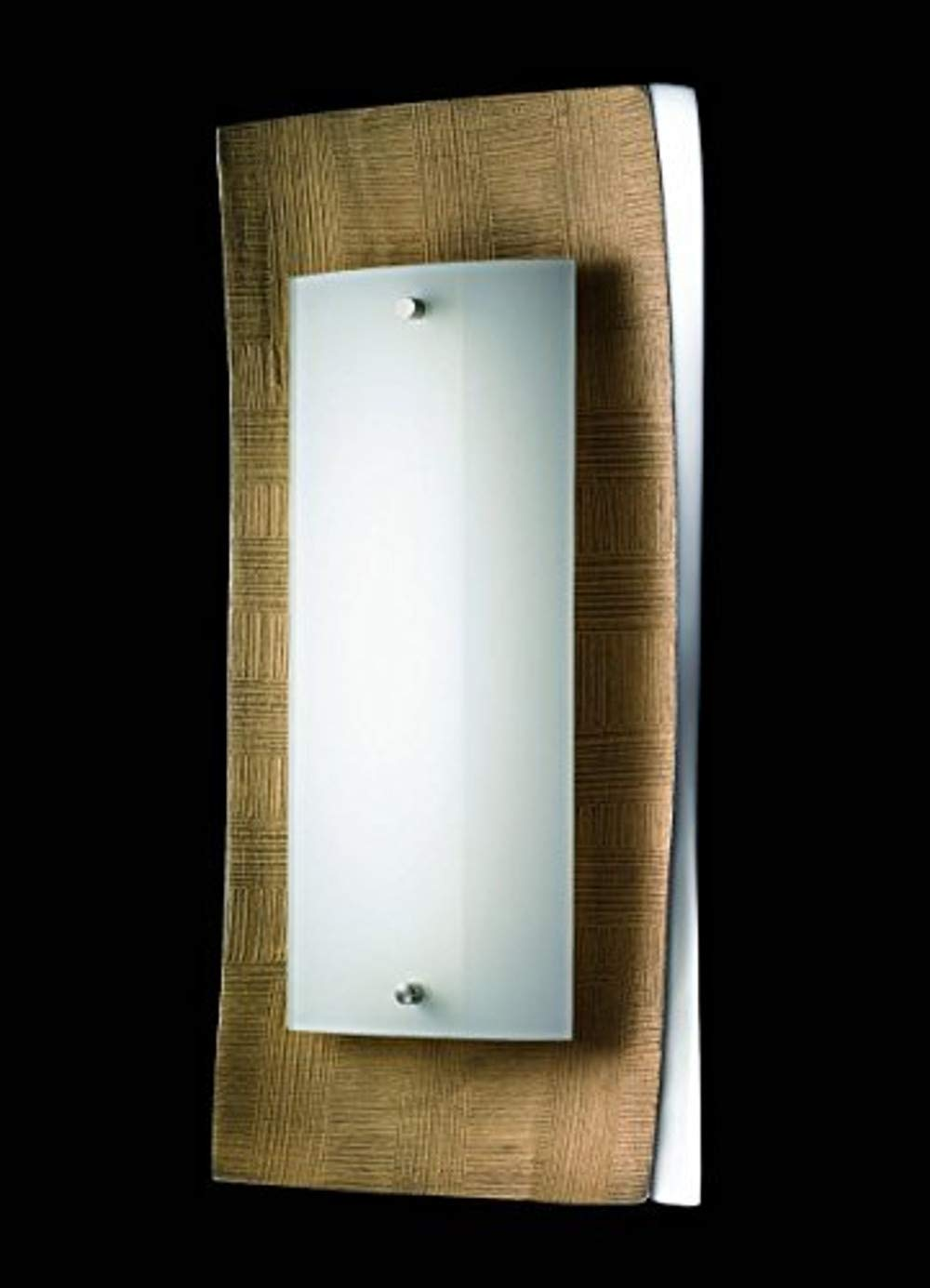 SHINE 51511 A++, Wandleuchte, Glas, goldfarbig/aluminium, 42 x 18,5 x 7,3 cm