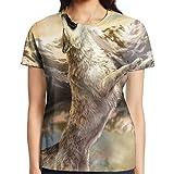 Fabric: Women's Short T-shirt Sleeve,100% Polyester.Size:S: Bust/45cm,Length/61cm.M: Bust/49cm,Length/63cm.L: Bust/53cm,Length/65cm.XL: Bust/57cm,Length: 67cm.XXL: Bust/61cm,Length/69cm.PS: Please Kindly Allow 1-3cm Error Due To The Manual Measuremen...