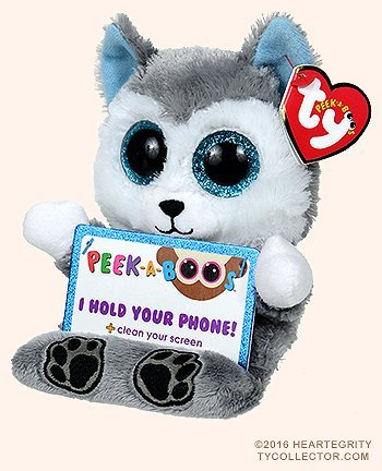 (TY Beanie Boos - Peek-A-Boos -SCOUT the Husky Dog (5.5 inch - Phone Holder))