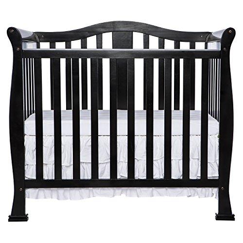 Dream On Me Addison 4 in 1 Convertible Mini Crib, Black