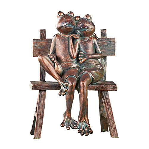Frog Couple Copper-Finish Garden Statue Decoration Sculpture (Copper Sculpture Garden)