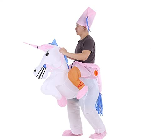Amazon.com: Disfraz hinchable de unicornio, traje hinchable ...