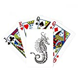 Hippocampus Marine Life Illustration Poker Playing Card Tabletop Board Game Gift