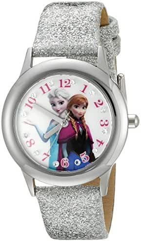 Disney Infinity Kids' W002505 Frozen  Elsa & Anna Analog Display Analog Quartz Silver Watch