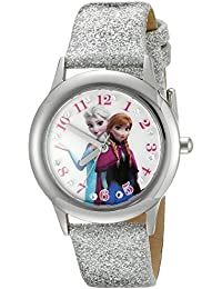 Infinity Kids' W002505 Frozen  Elsa & Anna Analog Display Analog Quartz Silver Watch