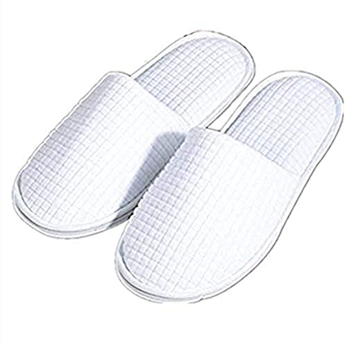 f52dd572f Waffle Disposable Slippers Non-Slip Closed Toe Shoes for Men and Women  Perfect for Hotel