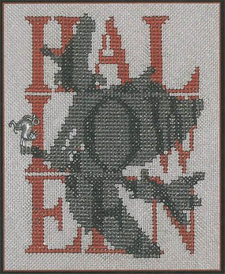 (Shadow Words-Halloween Witch Cross Stitch Chart and)
