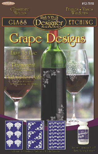 Armour Etch Designer Stencil Pak Grape ()