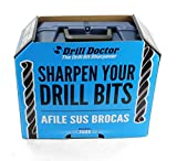 Drill Doctor 750X Drill Bit Sharpener for High-Speed Steel, Masonry, Carbide, Cobalt, TiN-coated Drill Bits, with Adjustable Angles from 115° to 140°, Sharpens 3/32in – 3/4in Drill Bits