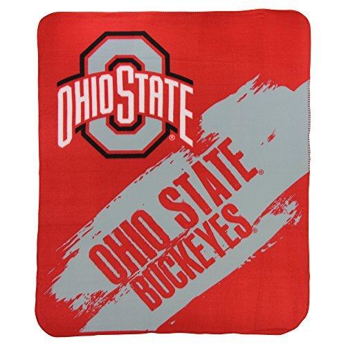 State Fleece Blanket (The Northwest Company NCAA Collegiate School Logo Fleece Blanket (Ohio State Buckeyes, 50