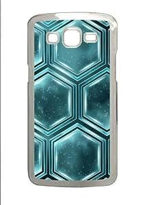 Hexagon light efficiency PC Case Cover for Samsung Grand 2 and Samsung Grand 7106 Transparent