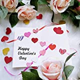 600 Pcs 3 Sizes 4 Colors Assorted Heart Stickers