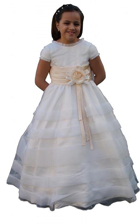 Jessidress Vestido de primera Comunion Vestido de Ceremonia Damita de Honor Nina De Arras Novia Fiesta