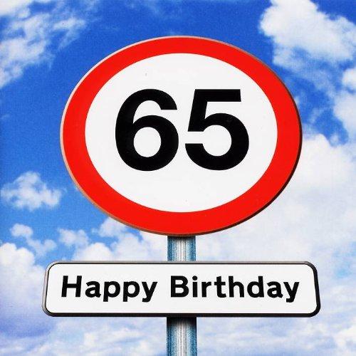 Twizler Tarjeta de 65 cumpleaños - Roadsign - 65 años de ...
