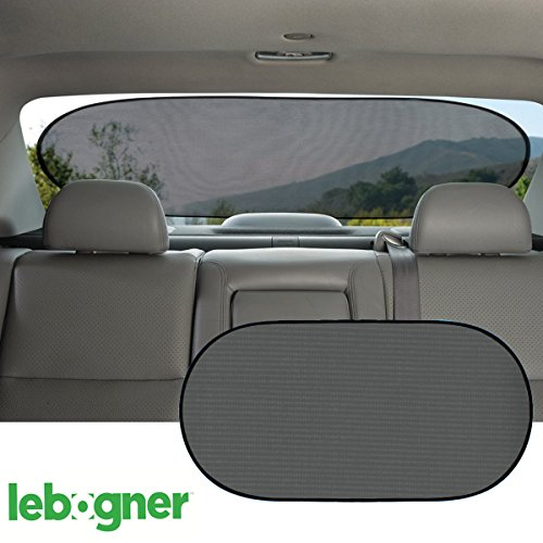 Windshield Cling Static - Car Cling Rear Window Sunshade By Lebogner - Premium Quality Large Baby Auto Sun Shield, Sun Protector, Blocking over 98% of Harmful UV Rays, Protects Children And Pets From The Sun's Glare