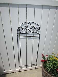 Scroll pequeño jardín bandera soporte soporte de bandera de Arbor hierro forjado negro