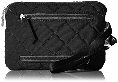 (Baggallini Women's RFID Currency & Passport Organizer, black/charcoal, One Size)