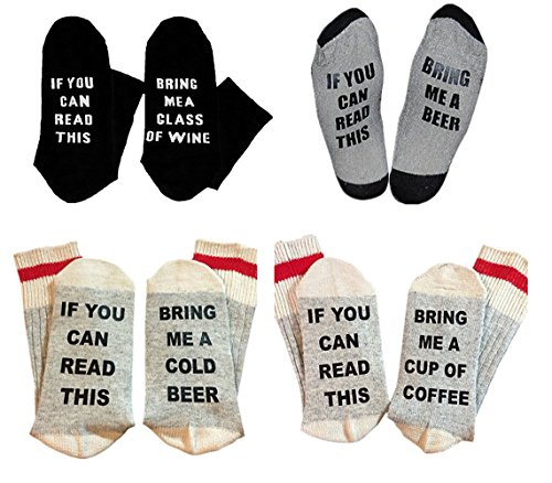 4-Pairs-Christmas-IF-You-Can-Red-This-PLEASE-Bring-Me-A-Glass-Of-Wine-Beer-Unisex-Socks-Set