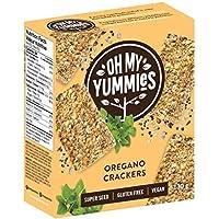 Oh My Yummies Oregano Crackers - Super Seed, Gluten-Free, Vegan - 390g (Pack of 3)