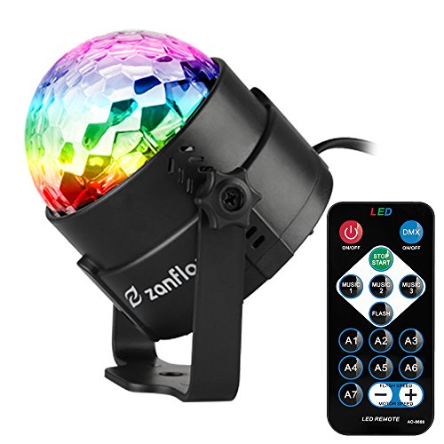 Sound Activated Party Lights with Remote Control, Zanflare 7 Lighting Color Modes Stage Par Light for Christmas Home Dance Parties Birthday DJ Bar Karaoke Wedding Show Club Pub