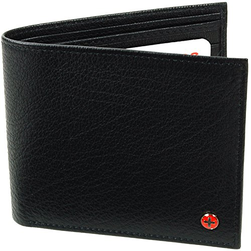 Alpine Swiss Men's European Leather Wallet Oversized Extra C