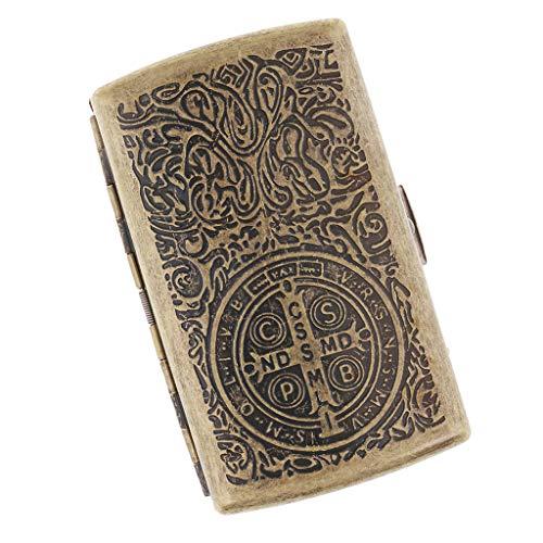 Baoblaze Caja Vintage Almacenamiento De Cigarros Cajita Con Escultura Especial Regalo Ideal Para Hombres - A