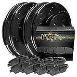 2009 pontiac g8 brake rotors - [FULL KIT] BLACK HART CROSS-DRILLED BRAKE ROTORS AND CERAMIC PADS BHXC.62120.02
