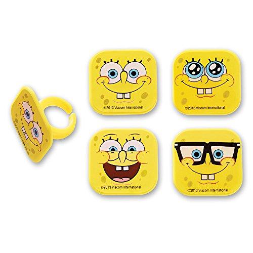 DecoPac SpongeBob Mood Faces Cupcake Rings (12 Count)]()