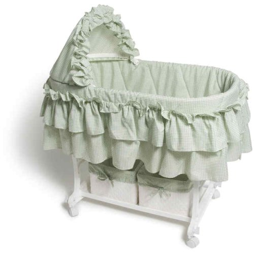 Burlington Baby Bassinet Combo With Wicker Baskets Moisés Gris