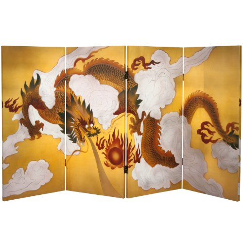 Oriental Furniture 3 ft. Tall Double Sided Dragon in the ...
