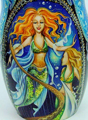 7pcs Hand Painted Russian Nesting Doll 'Mermaids by Ilyukova by Olga's Russian Collectibles (Image #6)