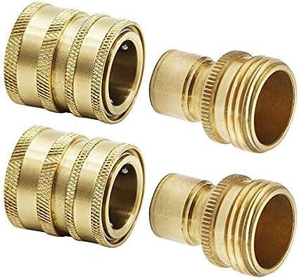 TWIS551 2 Pack Twinkle Star Garden Hose Brass Quick Connector Set