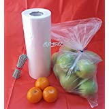 Royal Plastic bread Grocery Bag on Roll 12x20 Around 350 Plus bags and FREE Twist Ties Roll (1)
