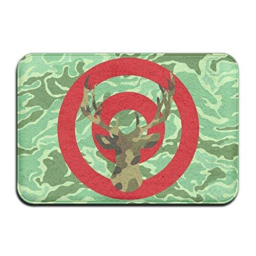 Titan's Mother Soft Non-slip Camo Archery Deer Hunting Bullseye Bath Mat Coral Fleece Area Rug Door Mat Entrance Rug Floor Mats Bullseye Camo