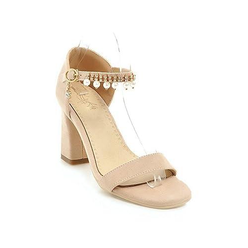 Mujer Alto Aikaka Verano Tacón De Rhinestone Zapatos Primavera ZuXPki