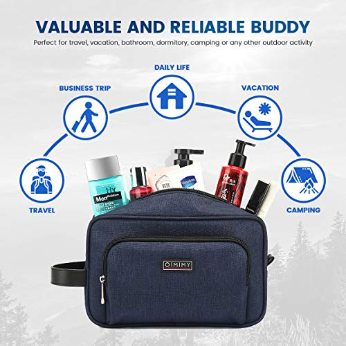 Toiletry Bag for Men Travel Shaving Dopp Kit Waterproof Toiletries Organizer for Cosmetic Portable Womens Makeup Bag