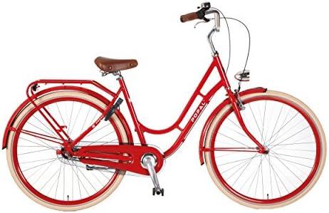 Retro estilo rojo para mujer bicicleta holandesa Omafiets ...