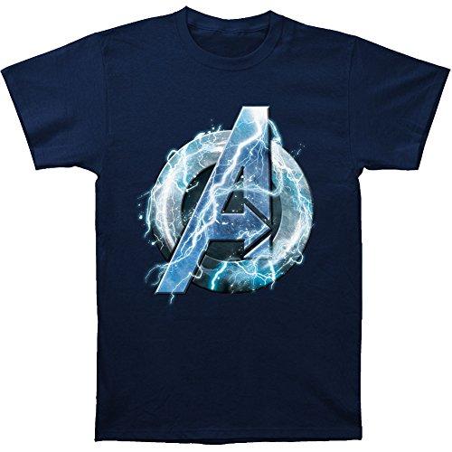 Avengers: Age of Ultron Thor Symbol T-shirt (Large, Navy)