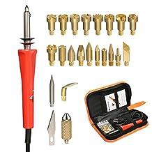 Full Set Wood Burning Kit, GOCHANGE 23 Pcs / 110V Wood Burning Pyrography Kit Include 22 x Assorted Wood Burning/Carving/Embossing & Soldering Tips, 1 x Wood Burning Pen