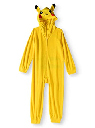 1e8aeacee9 Image Unavailable. Image not available for. Color  Pokemon Pikachu Big Boys  Hooded Blanket Sleeper Pajama (M (8))
