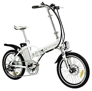 DE LUXE - Bicicleta Electrica - Ligera y Plegable - Pedaleo asistido PAS 012 - Frenos