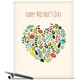 Jumbo Mother's Day Card: Grateful Greetings Featuring Images of Sweet Floral Sprays Surrounding the Words Thank You, With Envelope (Extra Large Version: 8.5'' x 11'') J2364KMDG