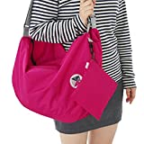 FTSUCQ Womens Multi-function Storage Container Clutch Shoulder Bags Rosered Backpacks