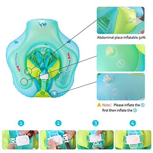 Delicacy Baby Swimming Float, Baby Inflatable Floats Ring Safety Belt Bathtub Swimming Pool Suitable for 6-36 Months,Size L [Upgraded Version] by Delicacy (Image #3)