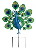 Miles Kimball 351105-840853128458 Maple Lane Creations Peacock Lawn Stake, One Size Fits Gallon