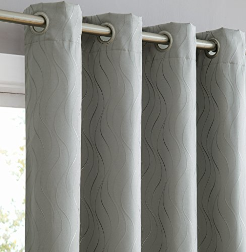 HLC.ME Camden 100% Blackout Thermal Window Curtain Grommet Panels for Sliding Glass Patio Doors - Energy Efficient, Complete Darkness, Noise Reducing - (100