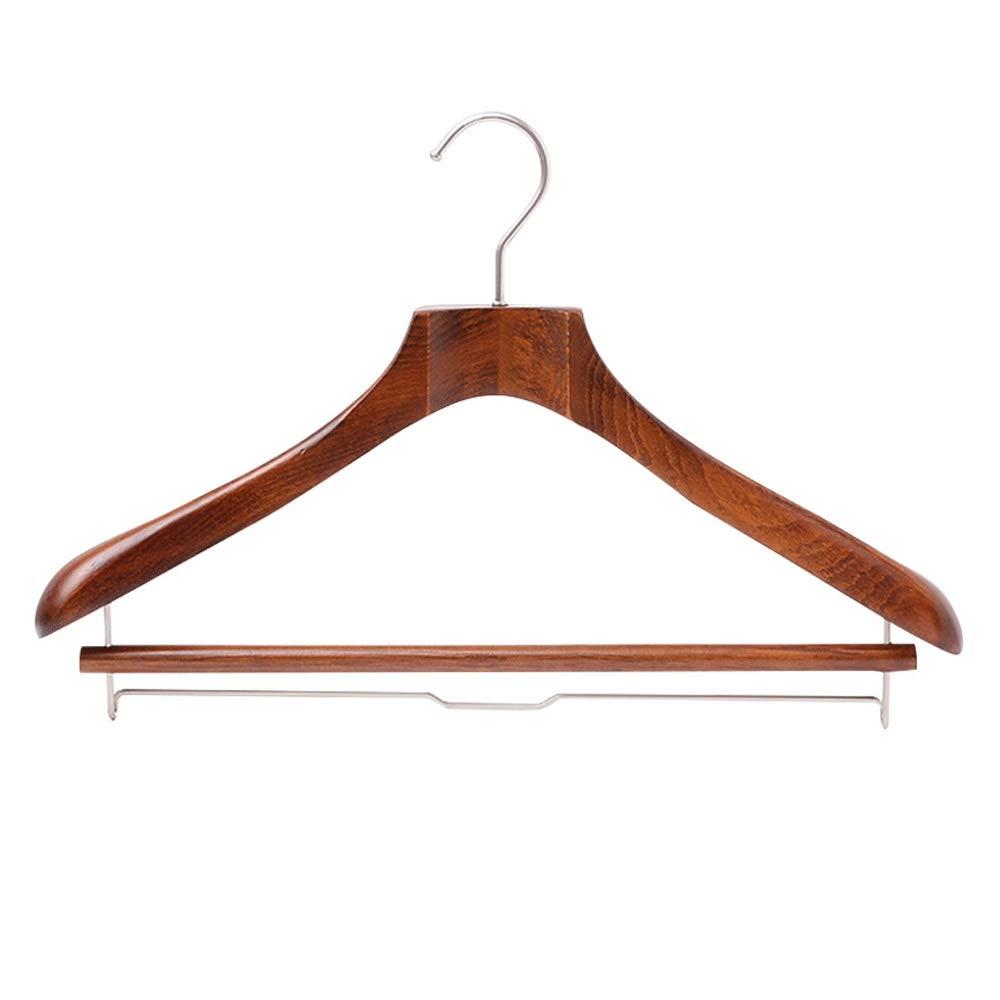 ハンガー 8つの頑丈な木のスーツのハンガーの服のコートのズボンのための特別に広い肩が付いているジャケットのハンガー スカート/ズボン/シャツ/衣類/タオルなどワードローブ収納ハンガー (Color : Retro, Size : 43.5*29cm) B07SJXFC5G Retro 43.5*29cm