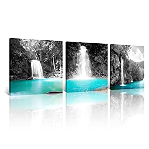 NAN Wind 3pcs 12X12inches Canvas Prints Black and White Theme Wall Art Landscape Pictures on Canvas Stretched and Framed Ready to Hang for Home Decor 42